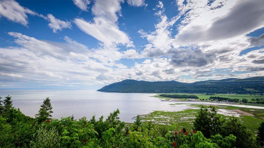 cratère de Charlevoix est à Baie-Saint-Paul