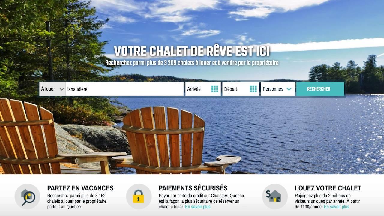 comment trouver un chalet au Québec