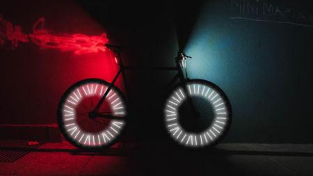 Des réflecteurs à rayons de vélo pour être super visible